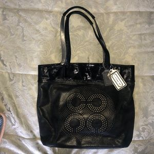 Coach's leather tote